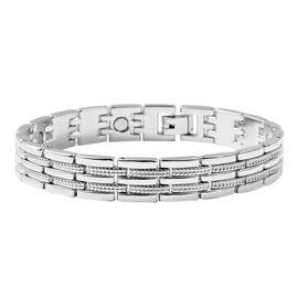 Silver Tone Multi-link Bracelet (Size 8.5)