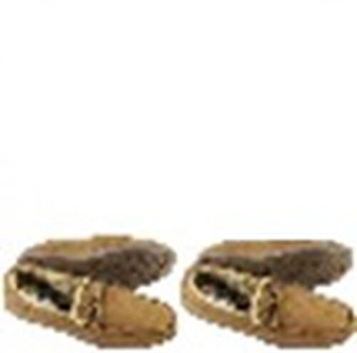 Monster Deal - Moccasin Loafers in Brown with Faux Fur Lining (Size 9)