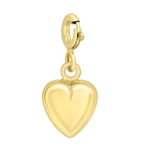 9K Yellow Gold Heart Pendant
