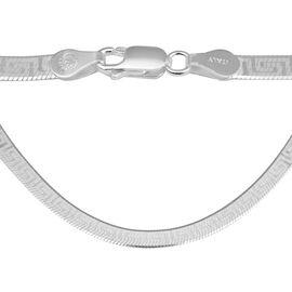 Italian Made Greek Key Necklace in Sterling Silver 20 Inch