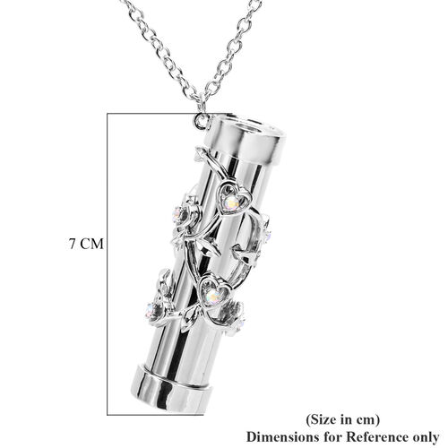 Multi Colour Austrian Crystal Kaleidoscope Pendant with Chain (Size 32 with Extender) in Silver Tone