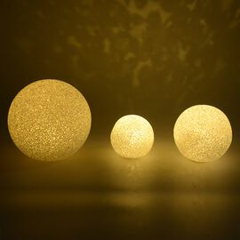 LED Decorative Christmas Globe Light Set (Sizes - 15CM, 10 CM and 8 CM) -  Warm Yellow