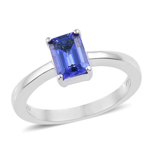 RHAPSODY 950 Platinum AAAA Tanzanite (Oct) Solitaire Ring 1.000 Ct. Platinum Wt. 5.42 Grams