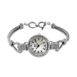 Royal Bali Collection EON 1962 Water Resistant Tulang Naga Diamond Studded Bracelet Watch (Size 7.25