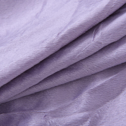 Serenity Night Lavender Colour Fitted Sheet (Size 140x190+30cm) - DOUBLE