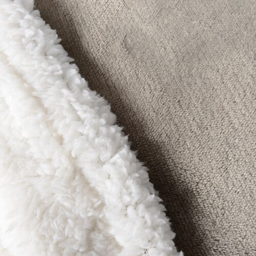 Autumn/Winter Collection - Taupe Colour Supersoft Reversible Flannel Sherpa Blanket (150x200 cm)