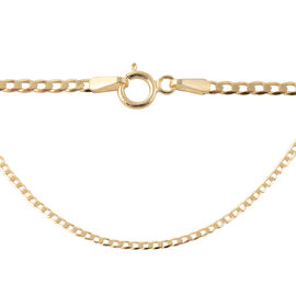 One Time Deal- 9K Yellow Gold Curb Necklace (Size 20), Gold wt 2.30 Gms