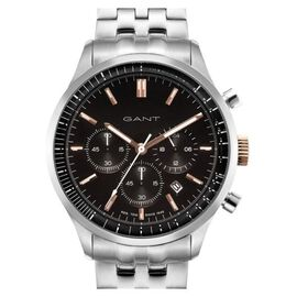 Monster Deal - GANT Bronwood Multi Function Mens Black Dial Chronograph Watch with Stainless Steel C