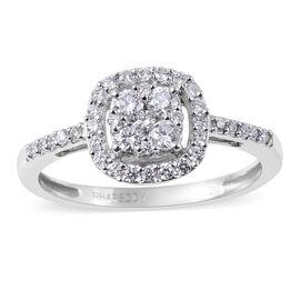 RHAPSODY 0.50 Ct Diamond Cluster Ring in 950 Platinum IGI Certified VS EF