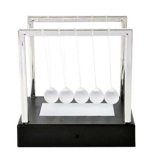 Home Decor - Newtons Cradle with Multi Colour LED Shining Light Balls (Size 15X11.2 Cm)