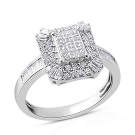 IGI CERTIFIED RHAPSODY 950 Platinum Diamond (E-F/VS) Ring 1.00 Ct, Platinum wt 6.40 Gms.