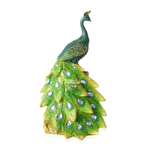 Home Decor - Peacock with Blue Feather Eyes (Size 26x13.5 Cm)