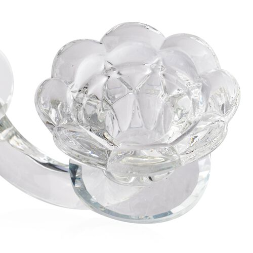 (Option 1) Victorian Era Style Crystal Candle Holder (Size 25.5x22 Cm)
