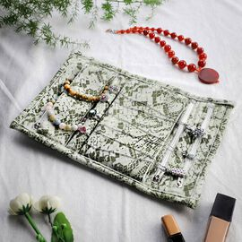 Speciality Styles Travel Floral Printed Jewellery Case- Olive Green