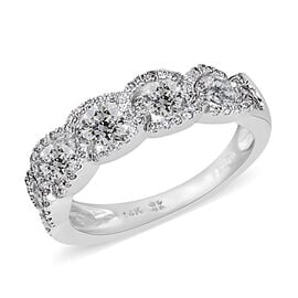 NY Close Out Deal 1 Carat Diamond Eternity Ring in 14K White Gold 3 Grams I1-I2 GH