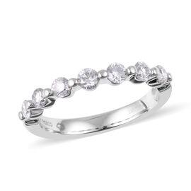 New York Close Out- 14K White Gold Diamond (Rnd) (I1/G-H) Ring 0.750 Ct.