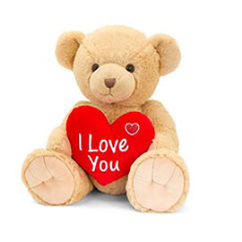 Keels Toys: Brown Snuggles Bear with Heart - 25cm