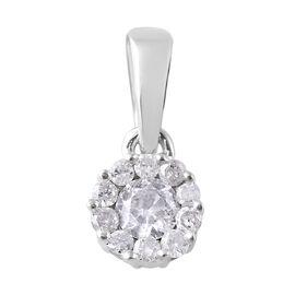 Diamond (0.20 Ct) 9K W Gold Pendant  0.200  Ct.