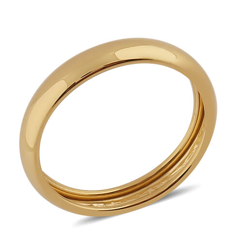 9K Yellow Gold High Polished Band Ring