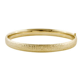 Royal Bali Diamond Cut Stacker Bangle in 9K Gold 7.64 Grams Size 7.5 Inch