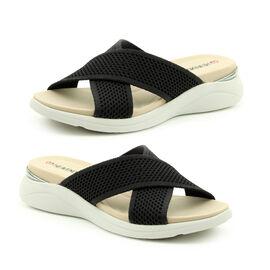Heavenly Feet Jasmine Mule Sandal (Size 3) - Black