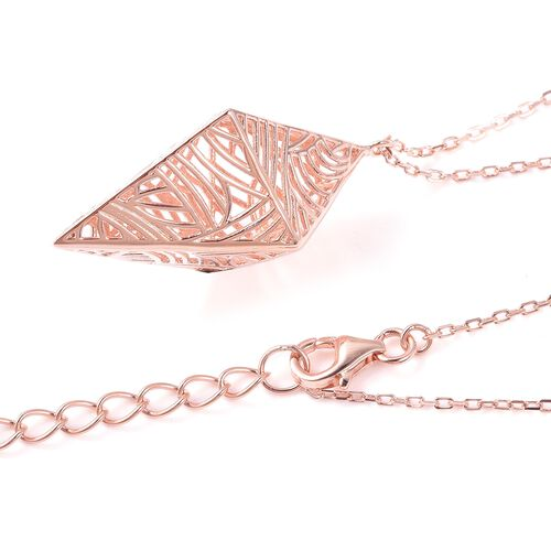 Isabella Liu - Sea Rhyme Collection - Rose Gold Overlay Sterling Silver Necklace (Size 20 with 4 inch Extender)