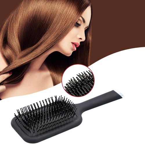 Shungite Infused Hair Brush (Size 26x9.2 Cm) - Black