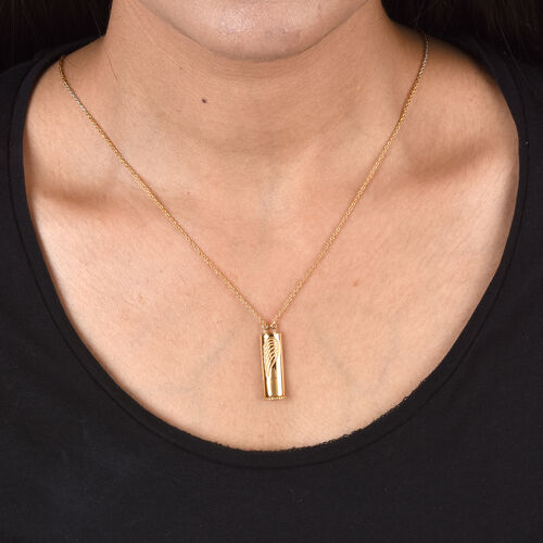 Personalise Engraved Secret Name Slider Necklace, Size 18 Inch