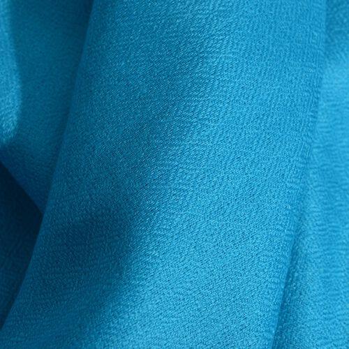 100% Cashmere Wool Light Turquoise Colour Shawl (Size 200x70 Cm)