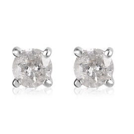 9K Yellow Gold SGL Certified Diamond Stud Earrings (with Push Back) 0.20 Ct.