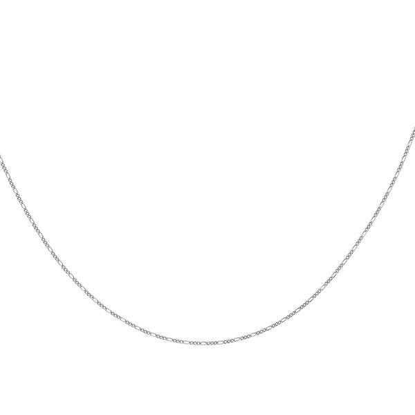 Sterling Silver Figaro Chain (Size 16), Silver wt 3.00 Gms