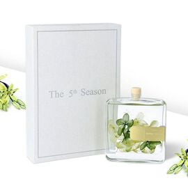 The 5th Season - 100ml Square Diffuser with Real Flowers - Yellow & Green (Fragrance Cold Water)