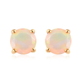 Ethiopian Welo Opal Stud Earrings in 14K Gold Overlay Sterling Silver 0.68 Ct.