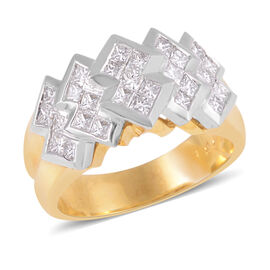 Signature Collection 1.15 Ct Diamond Princess Cut Invisible Set Ring in 950 Platinum SGL Certified V