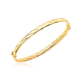 Close Out 9K Yellow Gold Twisted Bangle (Size 7), Gold wt 4.40 Gms