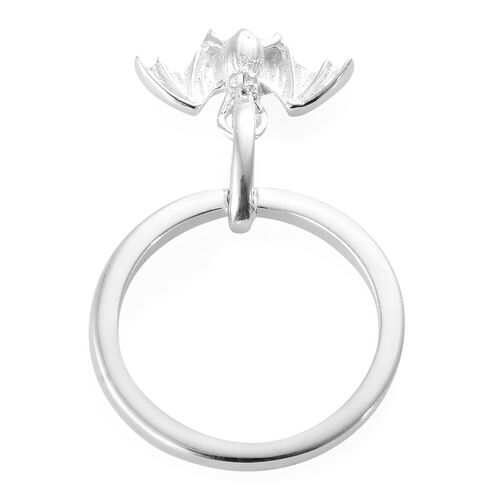 Sterling Silver Band Ring with Bat Charm, Silver wt: 3.07 Gms.
