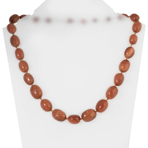 One Time Mega Deal- Rare Size Gold Sandstone Adjustable Beads Necklace (Size 20 - 32) 492.000 Ct.
