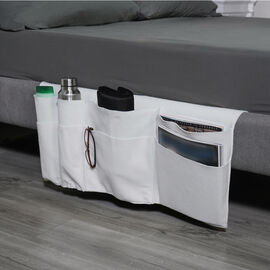 Home Smart Ivory Colour Bed Side Organiser (Size 73x37cm)