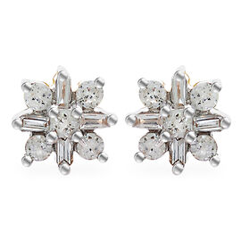 9K Yellow Gold SGL Certified Diamond (I3/G-H ) Stud Earrings (with Push Back)