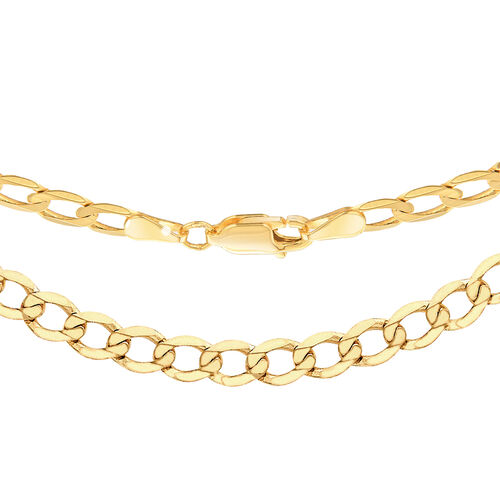 9K Yellow Gold Diamond Cut Curb Chain (Size 22), Gold wt 7.50 Gms.