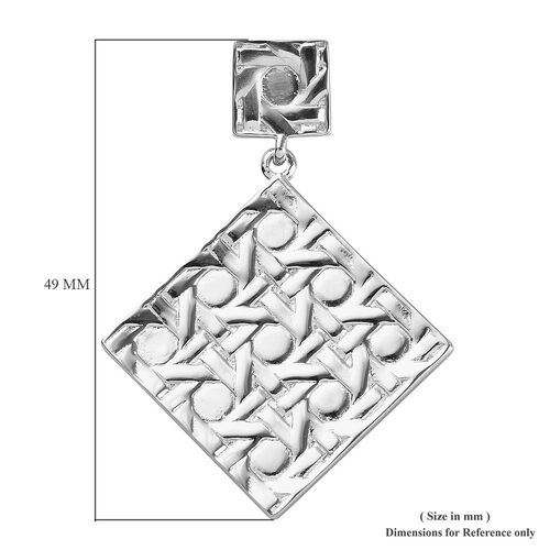 Platinum Overlay Sterling Silver Pendant, Silver wt. 9.83 Gms