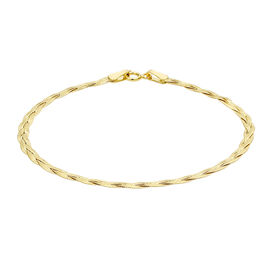 9K Yellow Gold Herringbone Bracelet (Size 7) ,  Gold Wt. 1.40 Gms