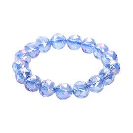 Simulated Blue Topaz Stretchable Bracelet (Size 6.75)
