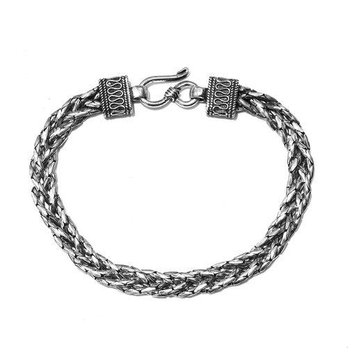 Sterling Silver Braided Bracelet (Size 7.5),  Sliver Wt. 17.27 Gms
