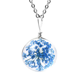 Glass Pendant with Chain  0.010  Ct.