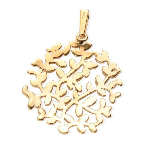 Designer Inspired- 14K Gold Overlay Sterling Silver Branch Vine Tree Pendant