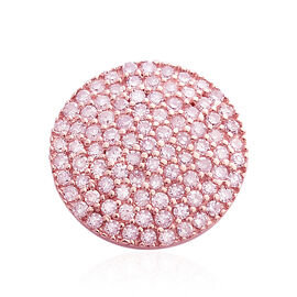 9K Rose Gold Natural Pink Diamond (Rnd) Pendant 0.500 Ct.