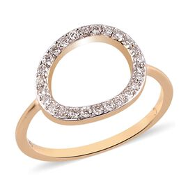 Super Find- RACHEL GALLEY 9K Yellow Gold SGL Certified Diamond (I1/G-H) Ring