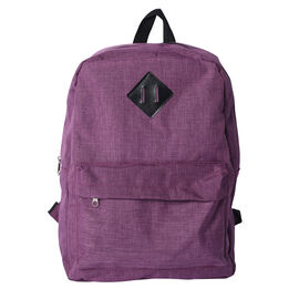 Purple Backpack with Zipper Closure (Size 30x11x40cm)
