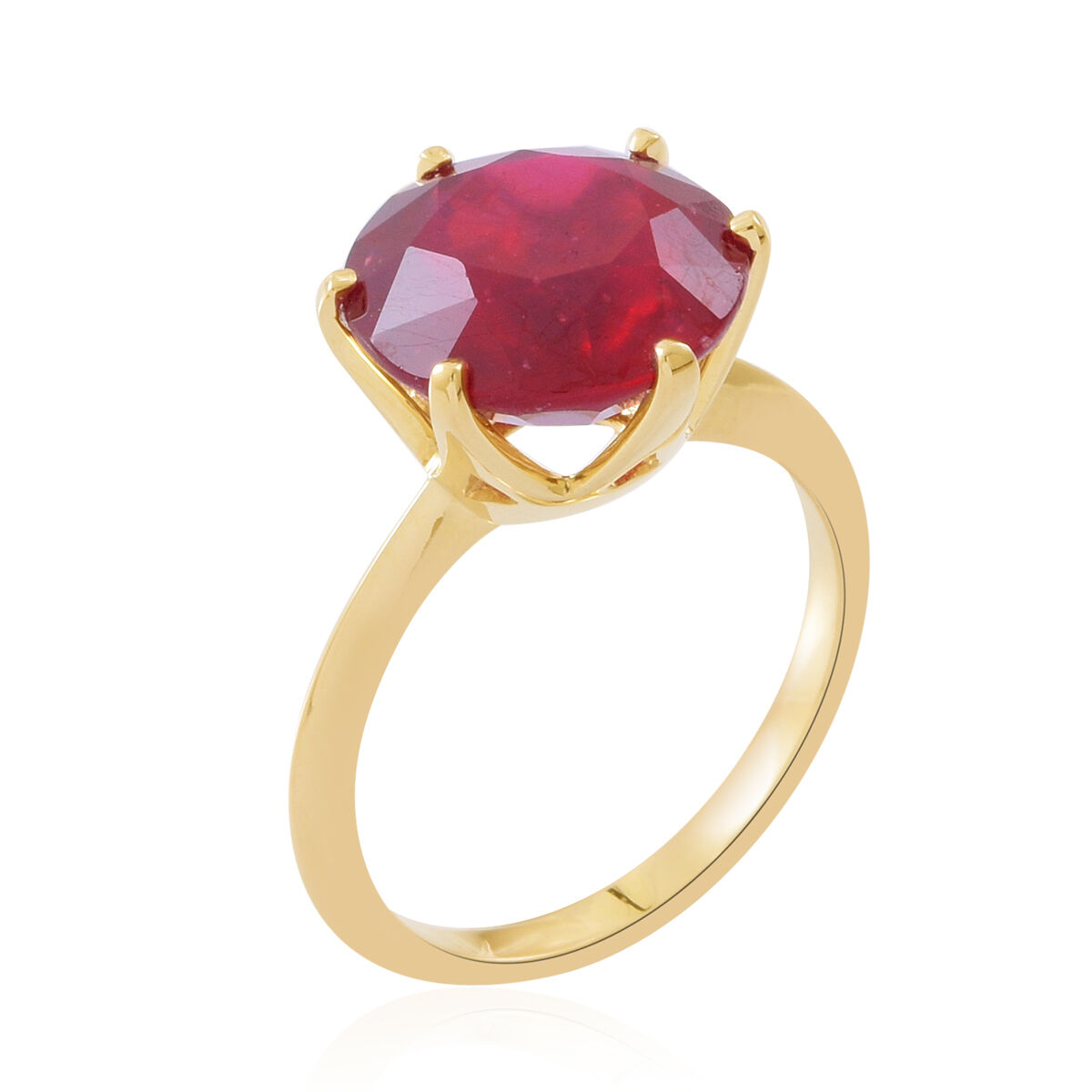 9K Yellow Gold AAA Rare Size Ruby Solitaire Ring 8.5 Ct eLbfr7